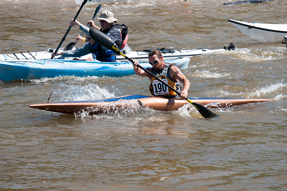 kayaking in a triathalon